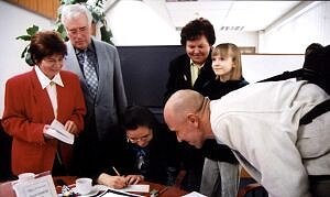Zdeklarowani wielbiciele Gdacjusza: rodzice pani Izabeli, znajomi oraz córka Joanna