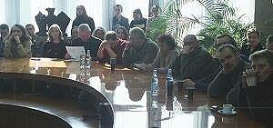 Dzień Uniwersytecki. Spotkanie w sali Rady Wydziału Filologicznego.