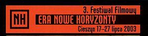 Logo 3 Festiwalu Filmowego