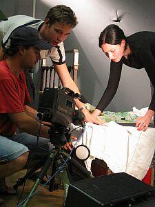Prace scenograficzne nad scenką