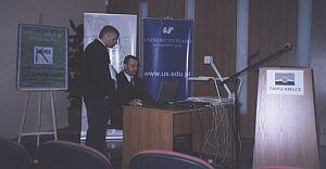 Prezentacja Uniwersytetu Śląskiego podczas konferencji