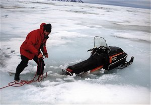 Pułapka na lodowcu Hansa, Spitsbergen