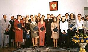Stypendyści Zarządu Województwa Śląskiego po uroczystości wręczenia stypendiów