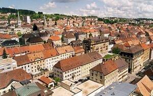 Panorama miasta La Chaux de Fonds (Szwajcaria)