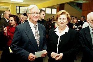 dr Krystyna Skórnik w towarzystwie prof. Józefa Wloki