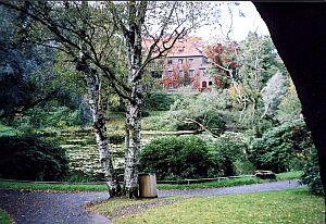 Park koło uniwersytetu w Göteborgu