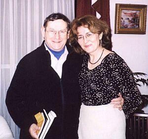 Dr Jolanta Tambor i Norman Davies