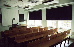 Jedna z sal dydaktycznych w budynku należącym do Uniwersytetu Śląskiego