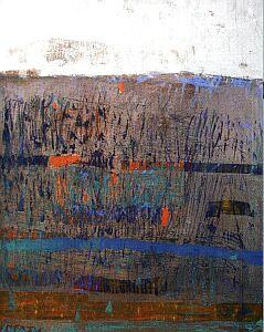 Ściernisko, 2002 (olej, płótno, 180x90cm)