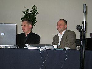 Autorzy zwycięskiego projektu: arch. Piotr Śmierzewski i arch. Dariusz Herman.