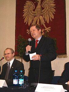 JM Rektor UŚ prof. dr hab. Janusz Janeczek i Ambasador Christopher Hill