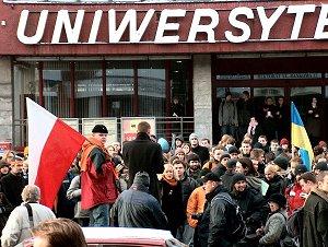 Manifestacja poparcia dla Ukrainy