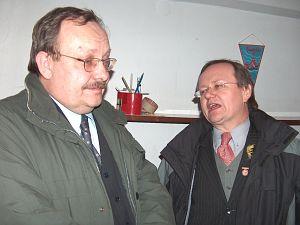 Henryk Grzonka (długoletni Redaktor Naczelny Egidy, obecnie zastępca Redaktora Naczelnego Radia Katowice) i Bernard Grzonka (obecnie pracownik naukowy WNS UŚ)