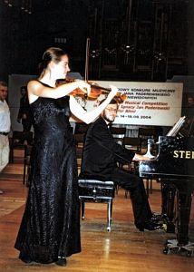 Marta Popiołek na konkursowej estradzie
