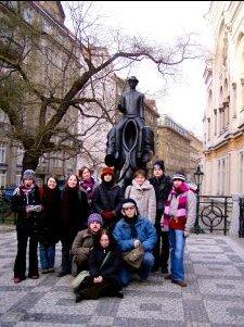 Członkowie Koła Naukowego Historyków Kultury UŚ podczas wyprawy do Pragi