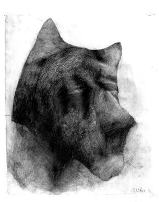 'Kusy-Zły' - rysunek ołówkiem, 1997 r.