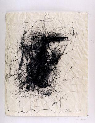 'Zapis na zmiętym papierze' - technika mieszana, 1998 r.