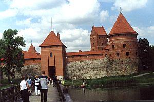 Malowniczy zamek książąt litewskich w Trokach