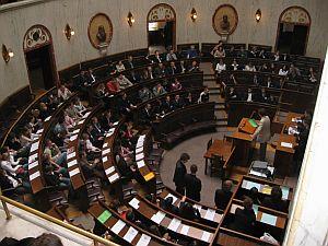 Posiedzenia parlamentarne młodzieży województwa śląskiego w Sali Sejmiku Śląskiego w Katowicach przygotowane przez Koło Naukowe Politologów oraz Śląską Radę Młodzieży