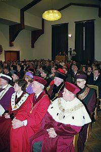 Uroczystość swoją obecnością uświetniło wielu gości, w tym JM Rektor UŚ prof. dr hab. Janusz Janeczek