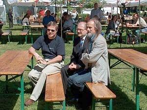 Od lewej: JM Rektor UŚ prof. dr hab. Janusz Janeczek, Prezydent Katowic Piotr Uszok, prof. dr hab. Tadeusz Sławek
