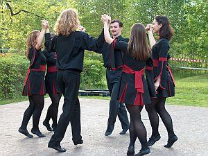 Atrakcją tegorocznej majówki był pokaz tańca irlandzkiego w wykonaniu członków AZS UŚ