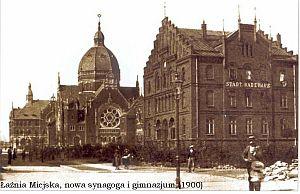 Łaźnia Miejska, nowa synagoga i gimnazjum (1900)