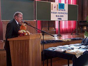 Prof. dr hab. Jan Ilczuk dziękował sponsorom, organizatorom i uczestnikom Konkursu