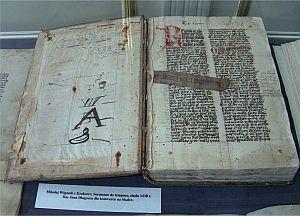 Mikołaj Wigandi z Krakowa Sermones de tempore, ok. 1430 rok, dar Jana Długosza dla konwentu na Skałce