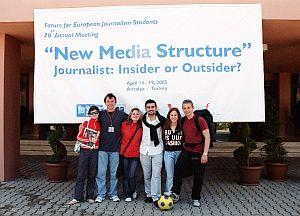 Główny powód wyjazdu do Turcji - 'New Media Structure' konferencja zorganizowana dla studentów dziennikarstwa z Europy