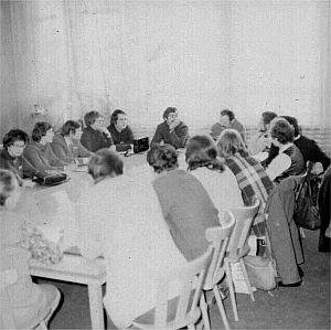 Sala Rady Instytutu Fizyki, posiedzenie Komisji Zakładowej 'Solidarności'