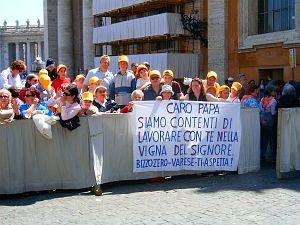 Pielgrzymi na I audiencji papieża Benedykta XVI