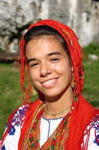 Przedstawicielka zespołu 'Lavradeiras da Meadela' z Portugalii