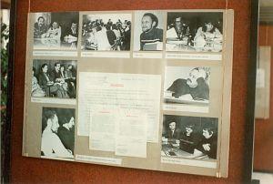 Spotkania pierwszej Komisji Zakładowej - zdjęcie z wystawy zorganizowanej w Instytucie Fizyki w 10 rocznicę wprowadzenia stanu wojennego