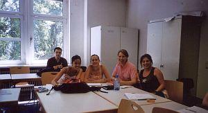Uczestnicy zajęć z prawa muzycznego z Serbii i Czarnogóry, Wietnamu, Polski, Niemiec i Szwajcarii