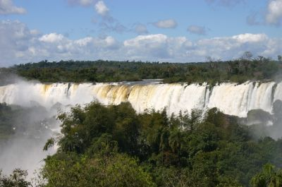 Wodospady Iguazú na granicy argentyńsko-brazylijskiej