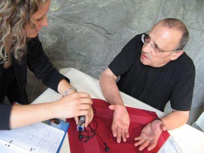 redaktor Anna Paprocka z Marcelem Łozińskim, wybitnym polskim dokumentalistą