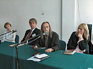 dr Joanna Janusz, prof. Bruce D. MacQueen, prof. Tadeusz Sławek, dr Aleksandra Kunce