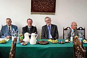 Podczas sesji, od lewej: profesorowie Gunnar Borstel, Maciej Sablik, Manfred Neumann, i Krystian Roleder