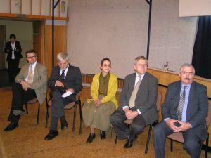 Zaproszeni goście-uczestnicy debaty, od lewej: Andrzej Sznajder (IPN), Edward Rodek, Maria Turkowska - Luty, Michał Luty, Juliusz Bojanowski
