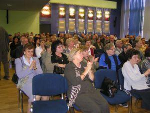 Uczestnicy spotkania w auli K. Lepszego w budynku Rektoratu