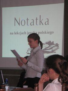 Magdalena Izydorczyk - studentka IV roku fililogii polskiej