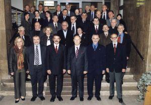 Członkowie VIII kadencji RGSW w towarzystwie Ministra Edukacji i Nauki - prof. Michała Seweryńskiego i urzędników MEiN