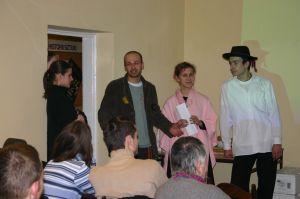 Organizatorzy spotkania. Od lewej: Maciek Chowaniok, Mariola Marek, Krzysiek Pająk