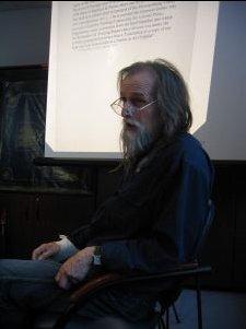Prof. dr hab. Tadeusz Sławek podczas swojego wykładu