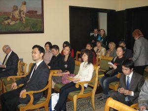 Konferencja prasowa zorganizowana w Ambasadzie Polskiej w Pekinie. Na zdjęciu przedstawiciele chińskich mediów