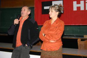 Krzysztof Wielicki wraz z współorganizatorką IV Festiwalu Slajdów Podróżniczych w Katowicach Joanną Morawiec