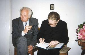 Profesor Włodzimierz Wójcik i ksiądz Jan Twardowski