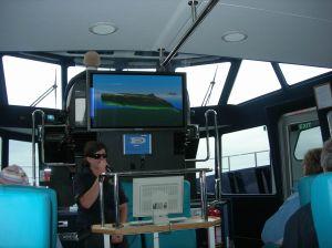 Prezentacja multimedialna na statku