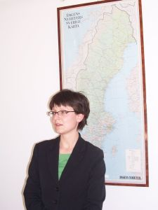 Pani Magdalena Erdman pełniąca obowiązki Dyrektora Instytutu Polskiego w Sztokholmie
